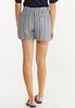 Vintage Stripe Linen Shorts alternate view