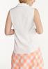 Plus Size Button Down Sleeveless Shirt alternate view