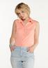 Plus Size Button Down Sleeveless Shirt alt view