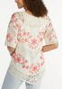 Plus Size Crochet Floral Tunic alternate view