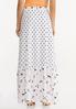 Plus Size Peach Floral Maxi Skirt alternate view