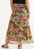 Plus Size Mesh Floral Maxi Skirt alternate view