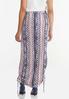 Plus Size Cinched Aztec Maxi Skirt alternate view
