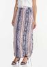 Plus Size Cinched Aztec Maxi Skirt alt view