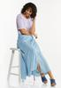 Chambray Double Slit Skirt alt view