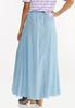 Plus Size Chambray Double Slit Skirt alternate view