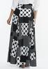 Plus Size Mixed Dot Maxi Skirt alternate view