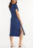 Plus Size Tie Dye Peace Shirt Dress alternate view
