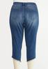 Cropped Studded Hem Jeans alternate view