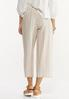 Striped Linen Cropped Pants alternate view