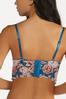 Plus Size Floral Lattice Lace Bra Set alt view