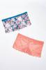 Plus Size Lattice Lace Hipster Panty Set alternate view