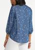 Plus Size Chambray Star Poet Top alternate view
