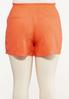 Plus Size Orange Linen Shorts alternate view