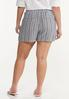 Plus Size Vintage Stripe Linen Shorts alternate view