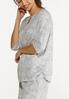 Plus Size Gray Tie Dye Top alt view