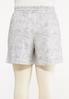 Plus Size Gray Tie Dye Shorts alternate view