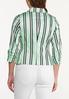 Plus Size Stripe Mint Blazer alternate view