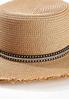 Bling Band Frayed Straw Hat alt view