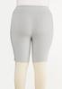 Plus Size Heather Gray Biker Shorts alternate view