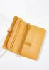 Faux Leather Golden Wristlet alternate view