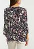 Plus Size Smocked Floral Tunic alternate view