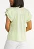 Plus Size Lime Ruffled Sleeve Top alternate view