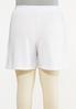 Plus Size White Smocked Shorts alternate view