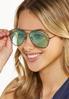 Mint Aviator Sunglasses alt view