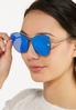 Geo Blue Lens Sunglasses alt view