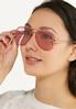 Pink Aviator Sunglasses alt view