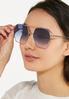 Hexagon Aviator Sunglasses alt view