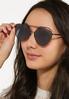 Black Aviator Sunglasses alt view