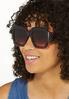 Oversized Square Tortoise Sunglasses alt view