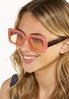 Pink Tortoise Square Sunglasses alt view