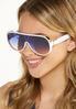 White Shield Sunglasses alt view