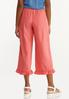 Cropped Ruffled Linen Pants alternate view
