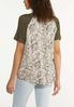 Plus Size Twisted Olive Print Tee alternate view