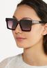 Gold Strip Square Sunglasses alt view