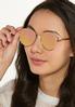 Mirrored Rose Gold Sunglasses alt view