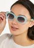 Blue Oval Sunglasses alt view