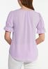 Plus Size Violet Puff Sleeve Top alternate view