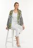 Plus Size Mixed Floral Kimono alt view