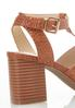 Woven T- Strap Heeled Sandals alternate view