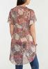 Plus Size Sheer Printed Tunic alternate view