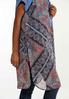 Plus Size Paisley Patchwork Vest alt view