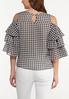 Plus Size Ruffled Gingham Top alternate view
