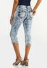 Cropped Acid Wash Jeans alternate view