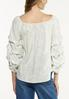 Plus Size Ruffled Balloon Sleeve Top alternate view