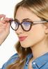 Cat Eye Tortoise Blue Light Glasses alt view